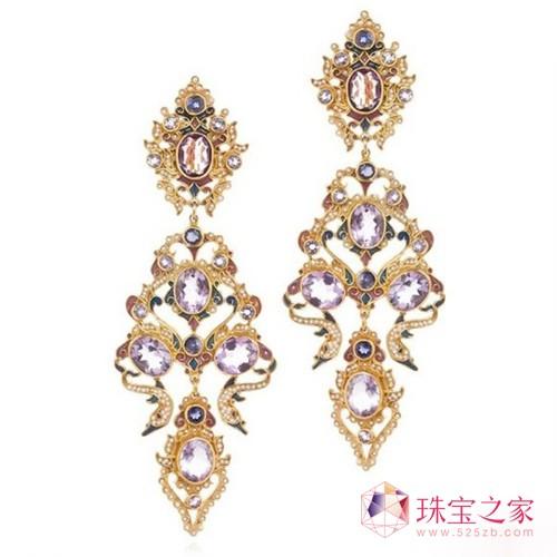 奢华风艺术珠宝耳环